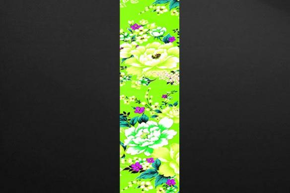 Bande papier peint floral vert