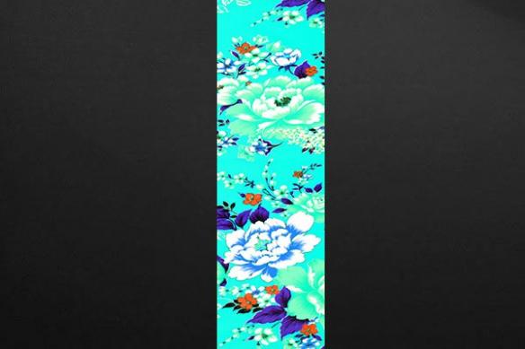 décor floral couleur bleu ciel