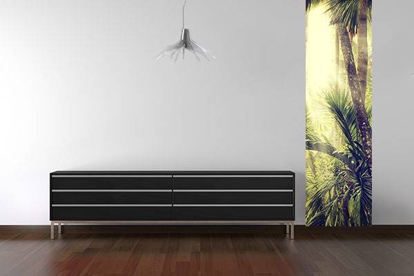 papier peint vintage tropical izoa. Black Bedroom Furniture Sets. Home Design Ideas