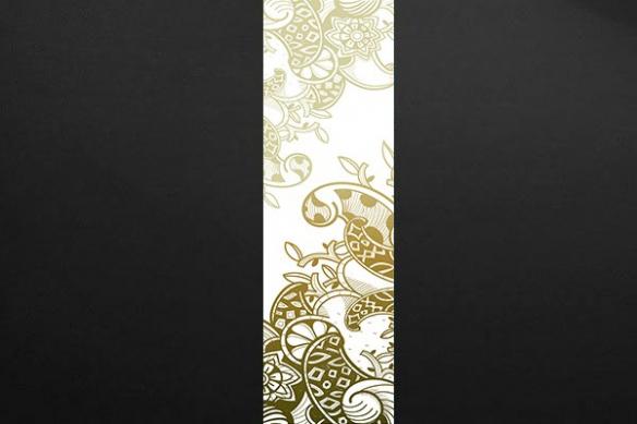 lé Papier peint déco arabesque marron