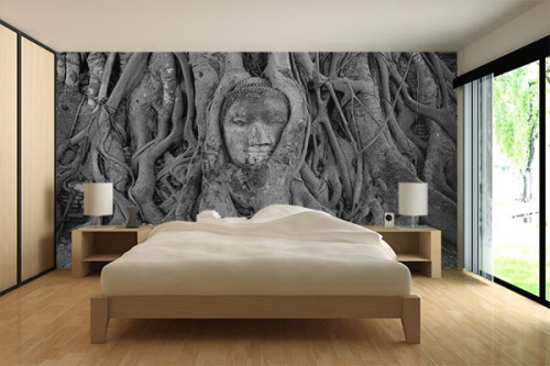 D co chambre zen bouddha for Table pour papier peint