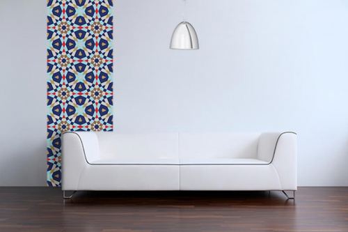Papier peint design Mozaïc bleu