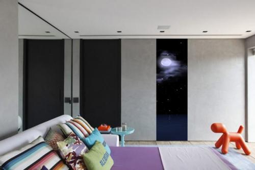 Déco chambre bande Papier peint photo Lune