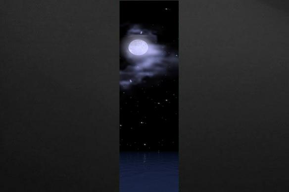 Lé de Papier peint décor Lune