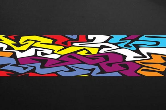 Papier peint deco abstrait formes colorées