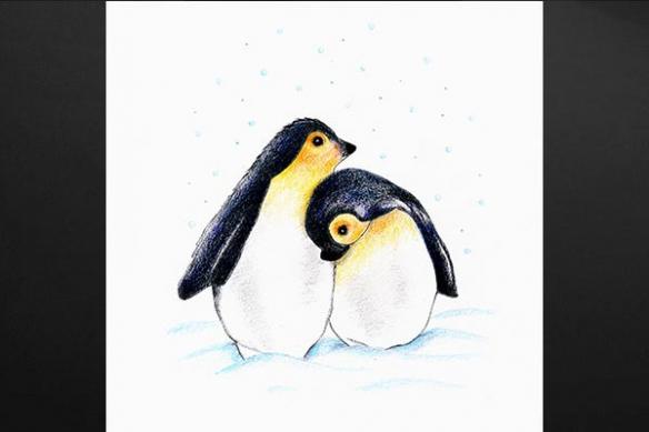 Idée déco chambre enfant Toile Pingouins