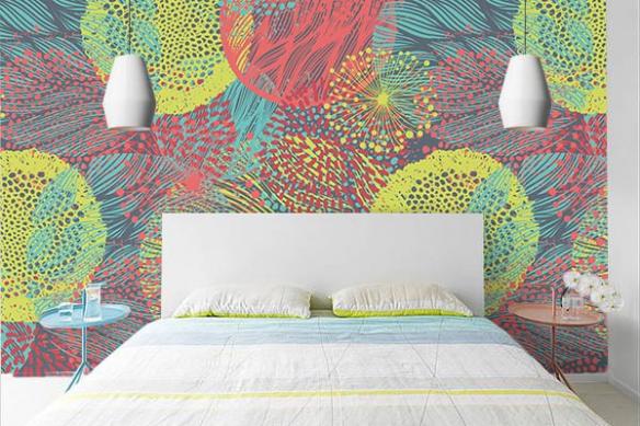 poster mural coloré déco chambre