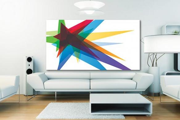 Tableau design abstrait Stars