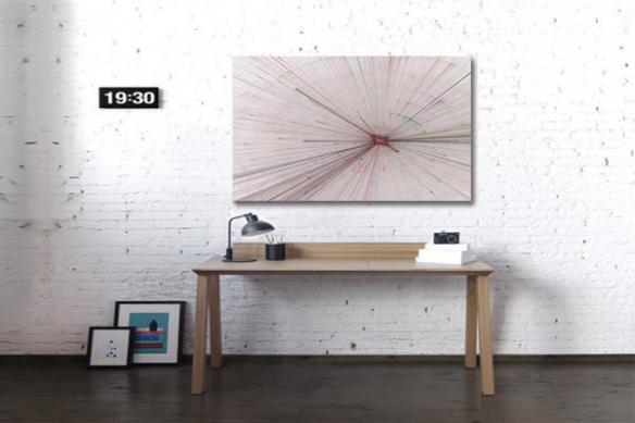 Tableau design abstrait Time Out