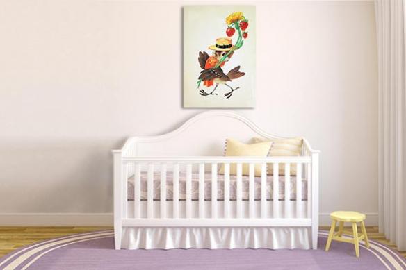 Tableau chambre Enfant Piaf