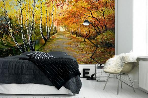 Papier Peint Deco chambre Chemin du Canal