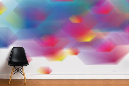 Papier peint abstrait design Parhélie