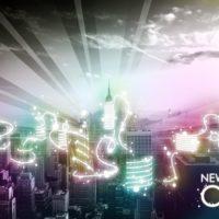 Nouveauté de la semaine : Tableau moderne « Lightning City » by