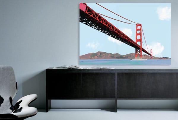 nouveau tableau tableau golden gate by thomas dallest blog izoa. Black Bedroom Furniture Sets. Home Design Ideas