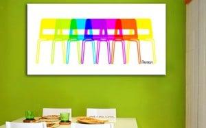 tableau moderne chaises izoa