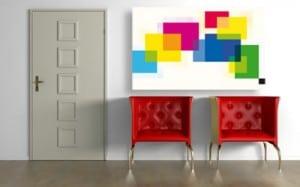 tableau abstrait carres couleurs izoa