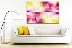 Tableau abstrait pixel izoa