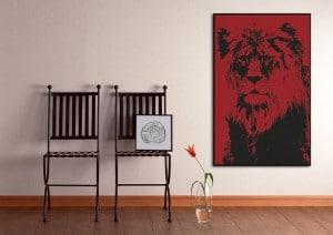 Tableau Lion Rouge_Izoa
