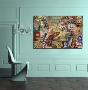 Tableau contemporain affiches Izoa