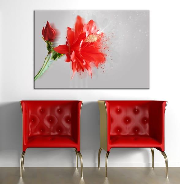 nouvelle toile amaryllis rouge by marion lechat blog izoa. Black Bedroom Furniture Sets. Home Design Ideas