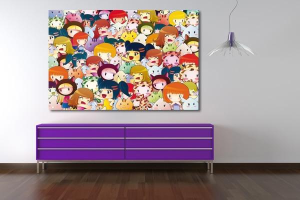 tableau pour chambre enfant kawaii