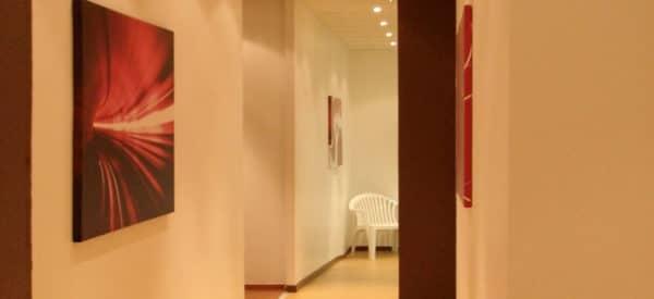 toile tableau rouge izoa décoration salle de sport