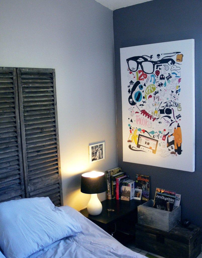tableau déco chambre Izoa chez Mathieu