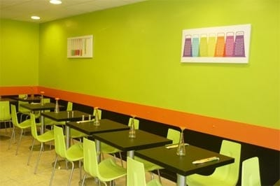décoration restaurant tableaux modernes colorés Izoa