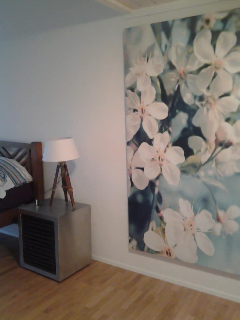 tableau déco chambre grand format Izoa fleurs