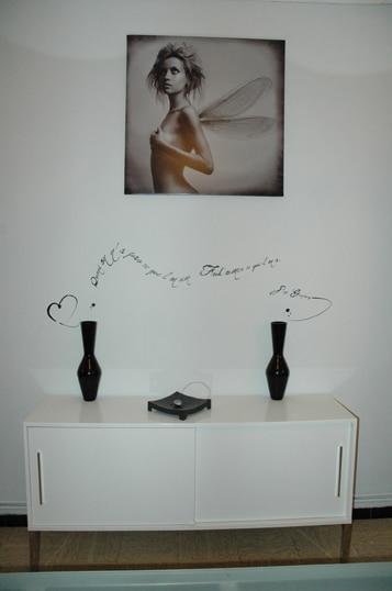 tableau ange noir et blanc izoa