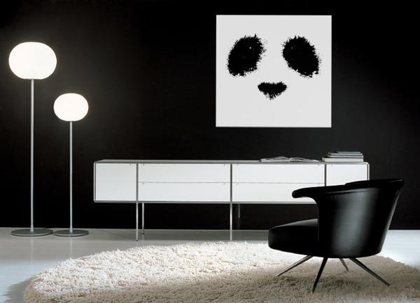 tableau contemporain panda tâches