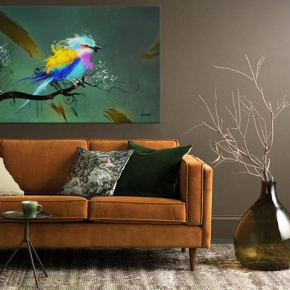 tableau coloré oiseau Izoa