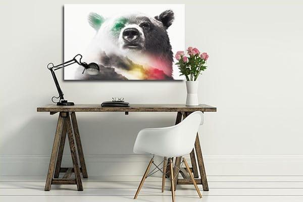 tableau moderne ours légendaire