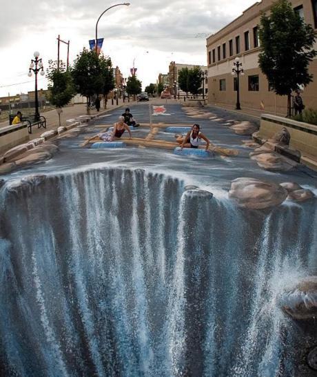 Oeuvre artiste contemporain trompe l'oeil