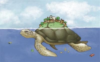 tableau pour enfant tortue magique