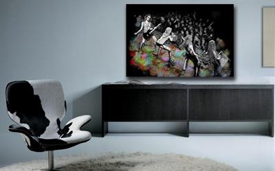 tableau contemporain rockeuses