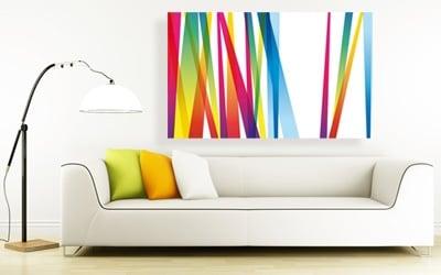tableau abstrait lignes colorées