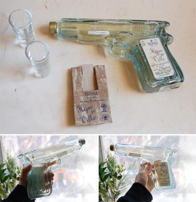 Bouteille tequila revolver