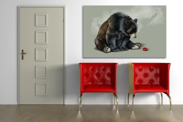 Tableau déco ours
