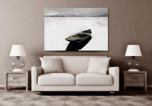 tableau paysage barque