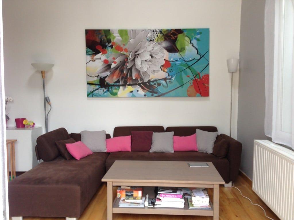 Tableau Grand Format Fleur D T Blog Toile Design Et Moderne D Izoa