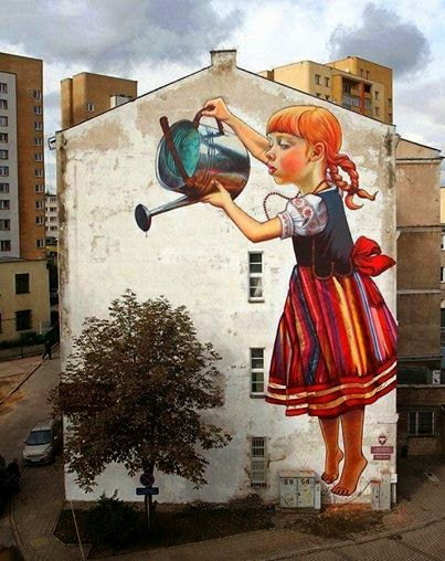 street art façade immeuble