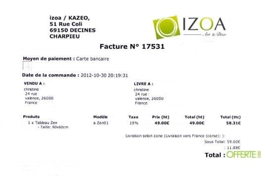 commande Izoa offerte