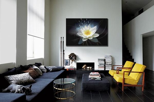 tableau deco fleur nymphea lotus