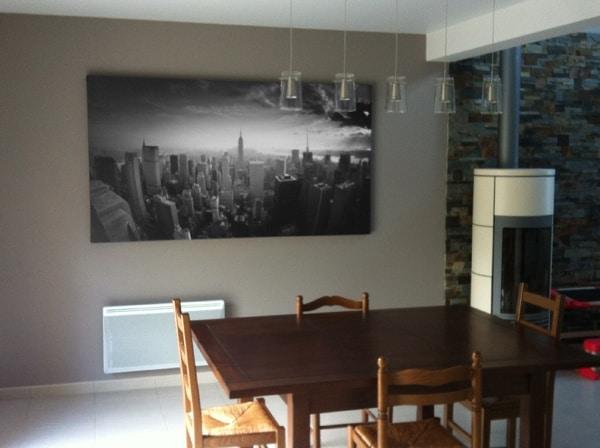 tableau new york grand format noir et blanc izoa posé chez Francis