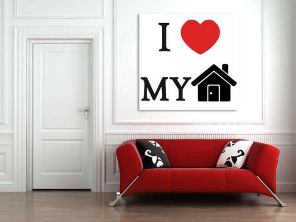 cadre avec citation i love my home