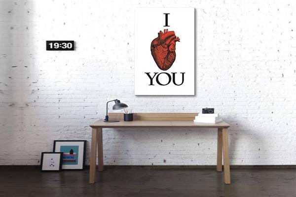 tableau avec citation i love you
