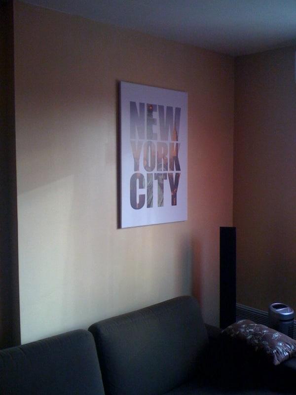 tableau new york city izoa posé