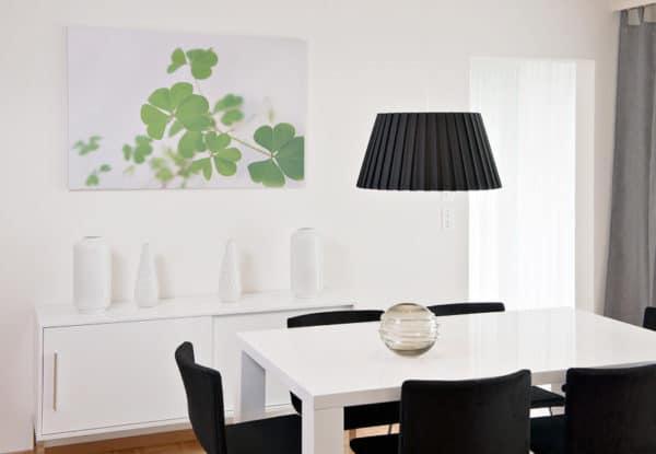 tableau toile izoa trèfles décoration salon
