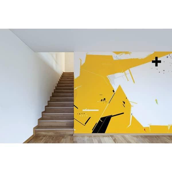 Couleur tendance du moment le jaune moutarde blog toile design et moderne d 39 izoa - Papier peint jaune moutarde ...